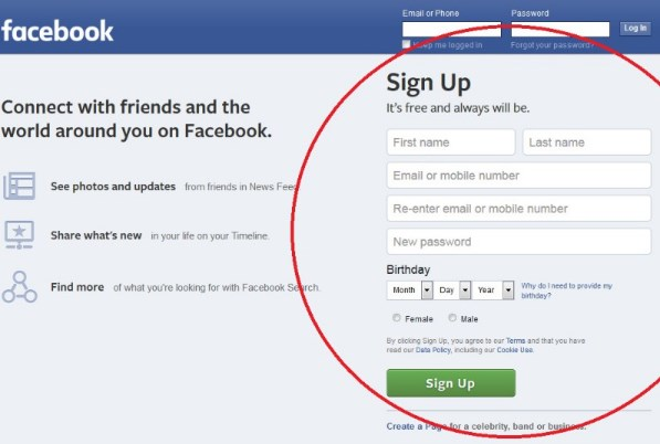 Facebook Sign In Page Again