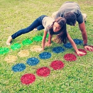 Camping Twister Game