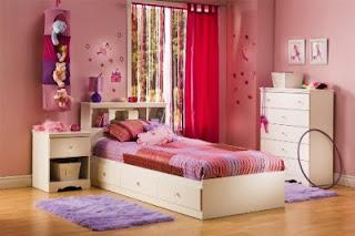 Habitación niña en rosa y blanco
