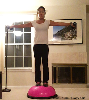BOSU Squat and Lateral Rasie