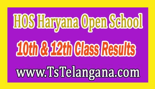 HOS Haryana Open School 10th & 12th Class Results 2017