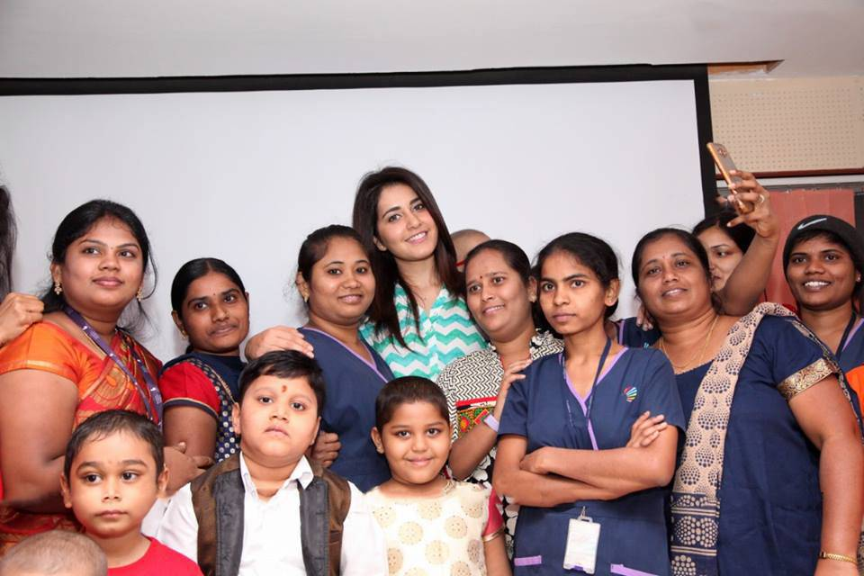 Rashi Khanna Stills At Rainbow Childrens Hospital
