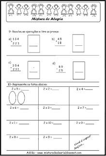 Avaliação de matemática 3º ano