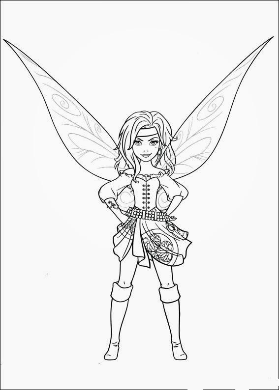 Dibujo De Zarina La Hada Que Se Convierte En Pirata Para