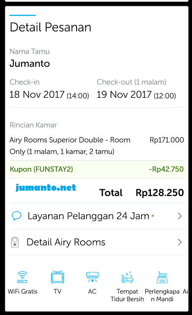 pengalaman booking hotel airy rooms bandung