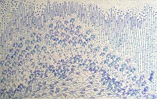 Blue tone drawing by Staedtler Triplus fineliner 3