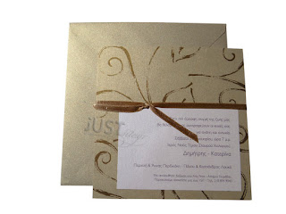 wedding invitations gold pearlised envelopes