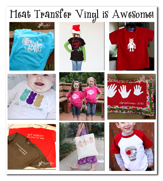 image about Printable Heat Transfer Vinyl Silhouette named Warmth Shift Vinyl! SIlhouette Package deal - And GIVEAWAY! - Sugar