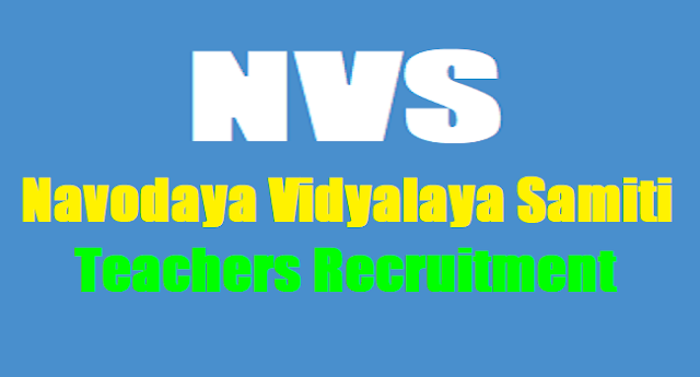 NVS(Navodaya Vidyalaya Samiti) PGTs, TGTs,Teachers, FCSAs Recruitment 2017,NVS Teachers Recruitment,Results,Selection list