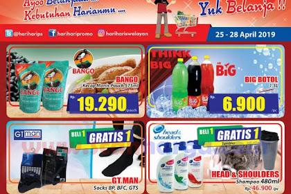 Katalog Promo Hari Hari Swalayan KJSM Weekend 25 - 28 April 2019