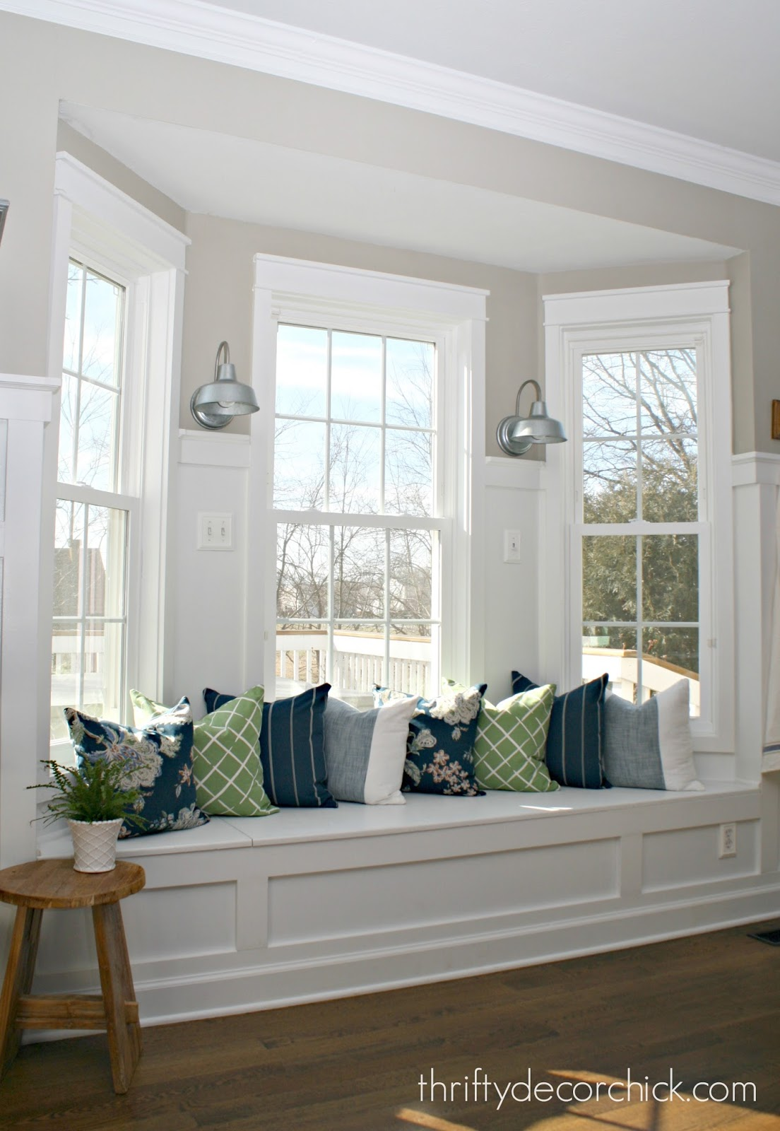 bay window turned into window seat