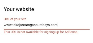 Cara Mengatasi This URL is not available for signing up for AdSense
