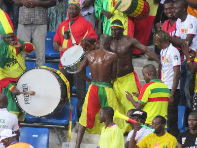 Mali fans at Afcon 2017.