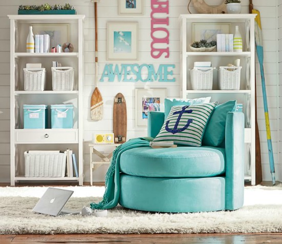 Pottery Barn Teen Catalog Beach Decor