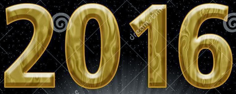 Happy New Year 2016 3D Text Images 1080p