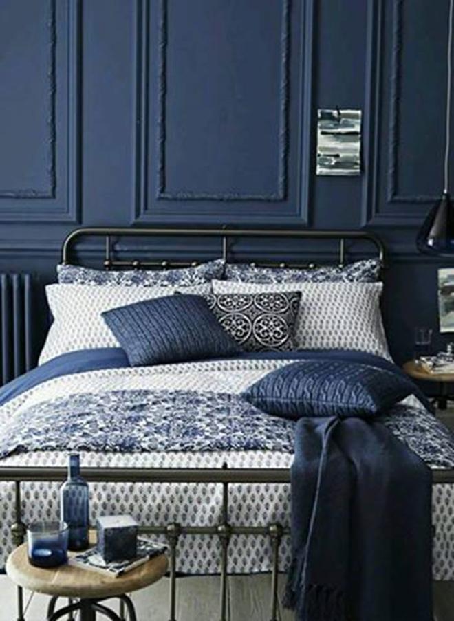 Tema Bilik Tidur Warna Navy Blue