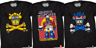 Transformers: Generation 1 T-Shirt Collection by Johnny Cupcakes
