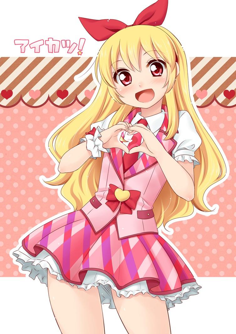 Foto Gambar Ichigo Hoshimiya Aikatsu Anime Cewek Cantik