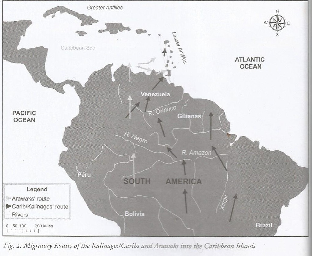 Tainos and kalinago settlements