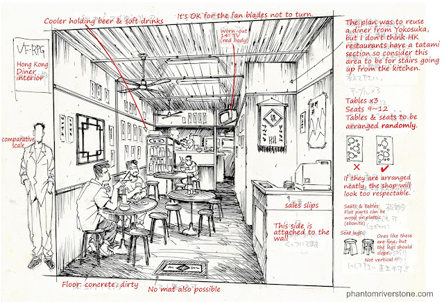 """Hong Kong Diner Interior"" design document"
