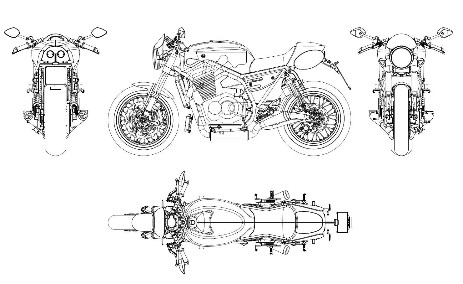 Racing Cafe Breganze Motorcycles Sf 750 Drawings