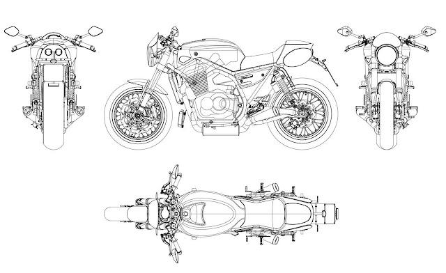 Racing Cafè: Breganze Motorcycles SF 750 Drawings