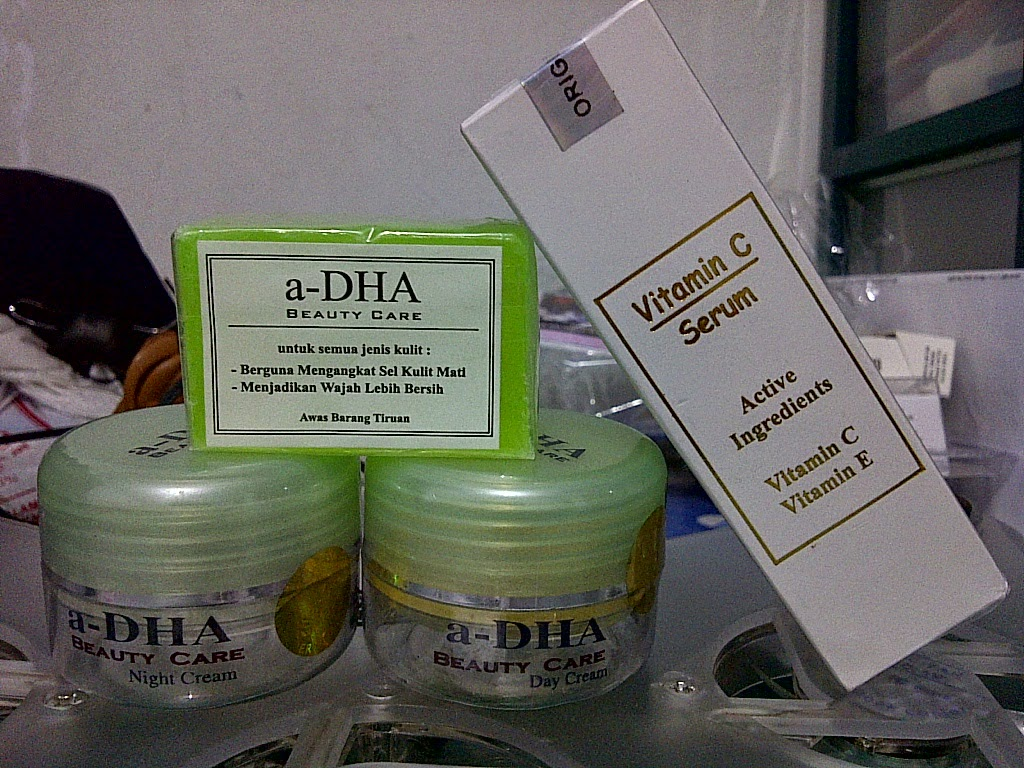 Paket Cream ADha Serum Vitamin C E