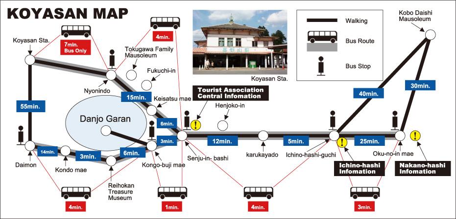 Koyasan bus map