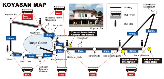 Koyasan bus map