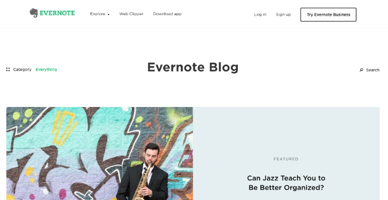 Blog Evernote