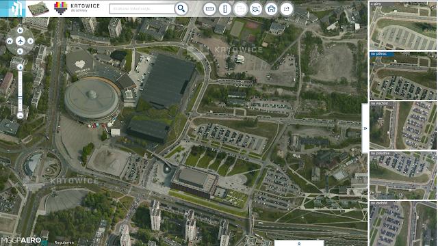 Zdjęcia pod ukosem na mapie Katowice