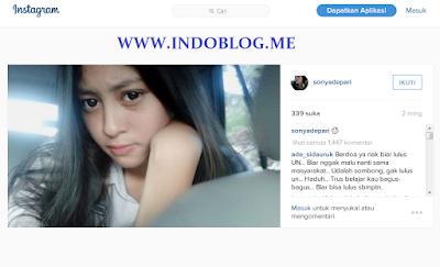 Akun Instagram Sonya Depari
