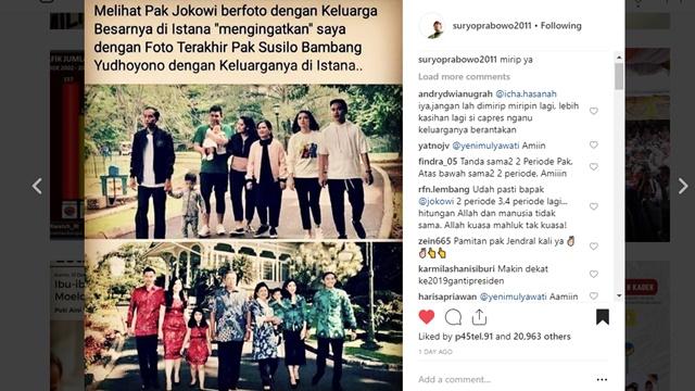 Bahas Foto Keluarga Jokowi, Netizen: Mirip Foto Keluarga SBY saat Terakhir Menjabat
