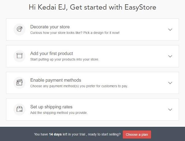 Cara Buat Kedai Online Dengan EasyStore
