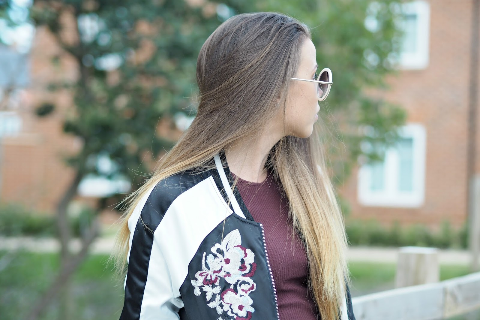 how to style an embroidered bomber jacket