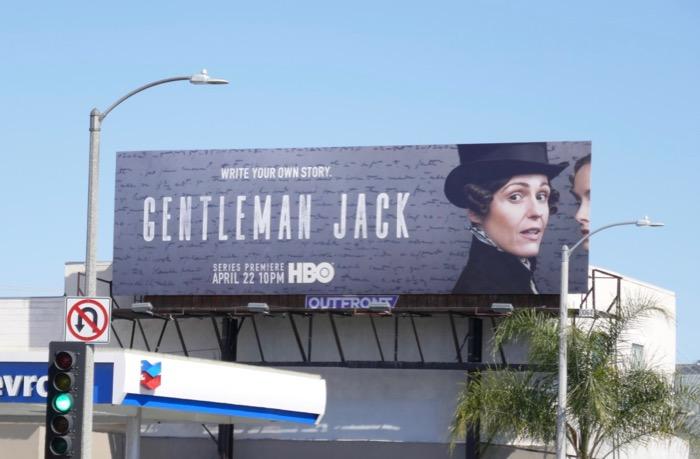 Gentleman Jack series launch billboard