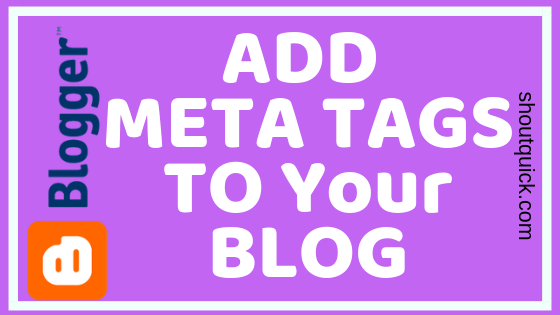 How to Add Meta Description To Blogger Blog