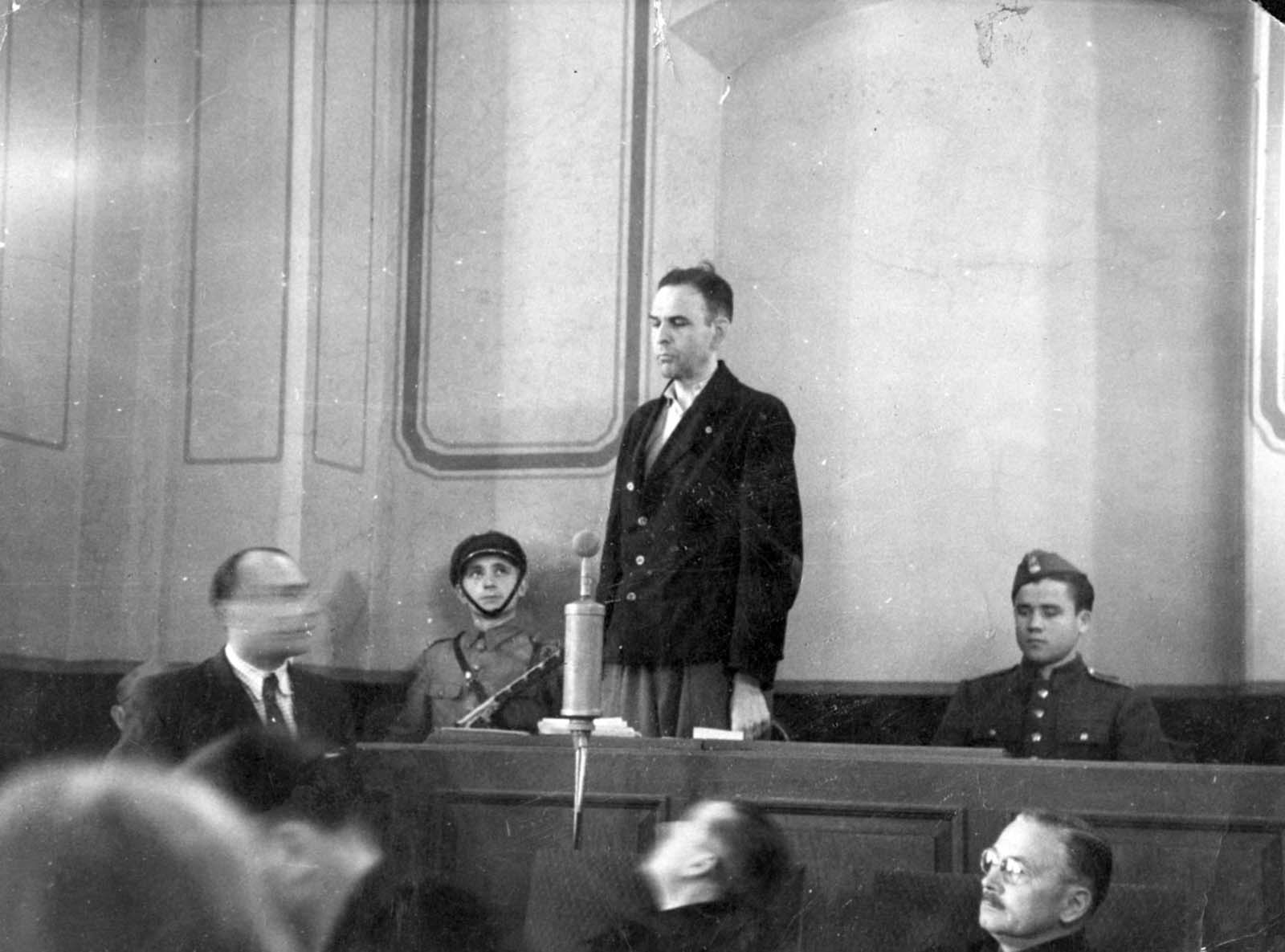 Amon Goeth during his trial, 1946.