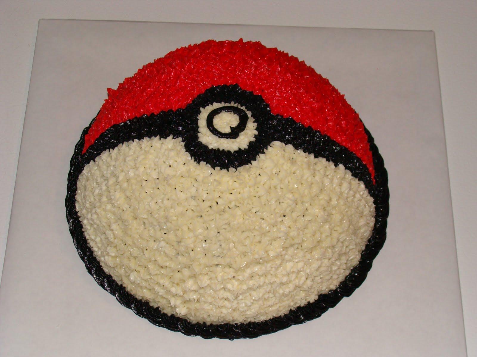 Gmail Spam Settings >> Door County Custom Cakes and Cookies: Pokémon Ball Cake