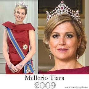 Queen Maxima wore MELLERIO Tiara