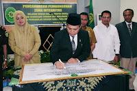 Bupati dan Wakil Walikota Bima Hadiri Pencanangan Zona Integritas WBK dan WBBM di PN Raba Bima