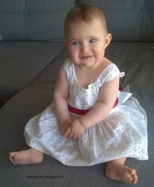 robe bébé cérémonie DIY
