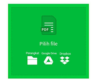 Upload file di smallpdf