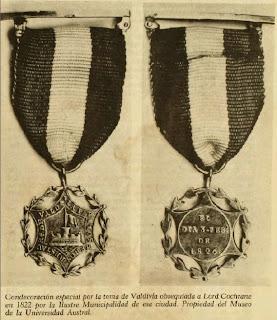 Medalla otorgada a Cochrane