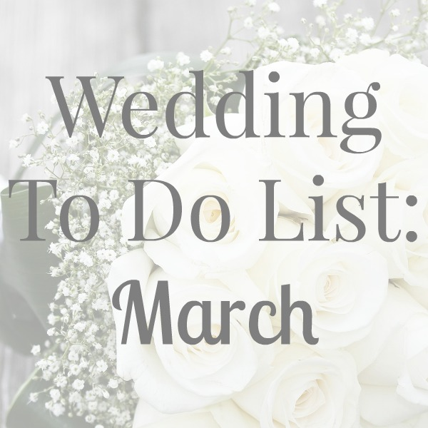 wedding, to do list, March,