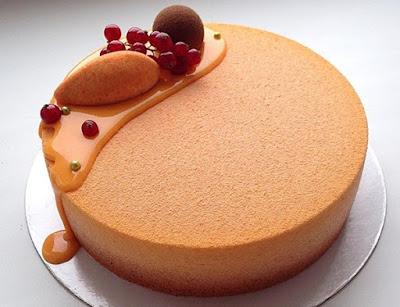 Icing Manggo Mirror Cake