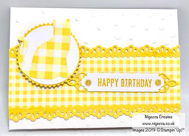 Gingham Gala Cat Card Kit Nigezza Creates