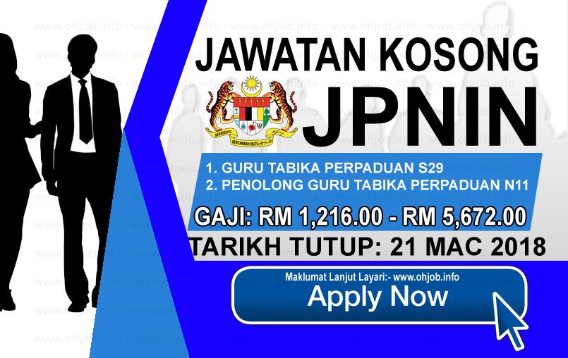 Jawatan Kerja Kosong JPNIN - Jabatan Perpaduan Negara dan Integrasi Nasional logo www.ohjob.info mac 2018