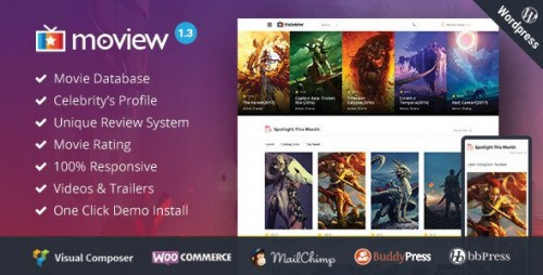 Moview v1.3 – Responsive Film Video DB & Review Theme