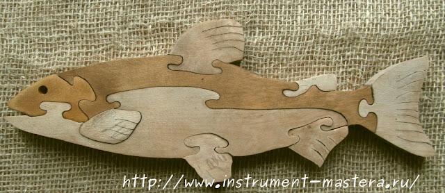 деревянные пазлы